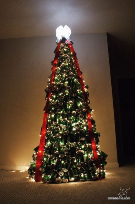 How to make a Christmas tree with beer cans? - Pictures nr 1