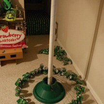 How to make a Christmas tree with beer cans? - Pictures nr 3
