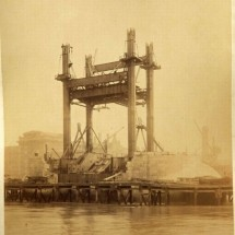 Old photos from the construction of London Tower Bridge - Pictures nr 299