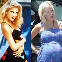 Teen celebrities then and now
