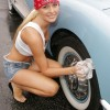 Sexy girls washing cars - Pictures nr 23