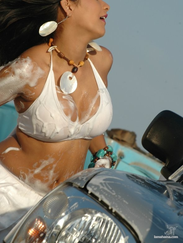 Sexy girls washing cars - Pictures nr 26
