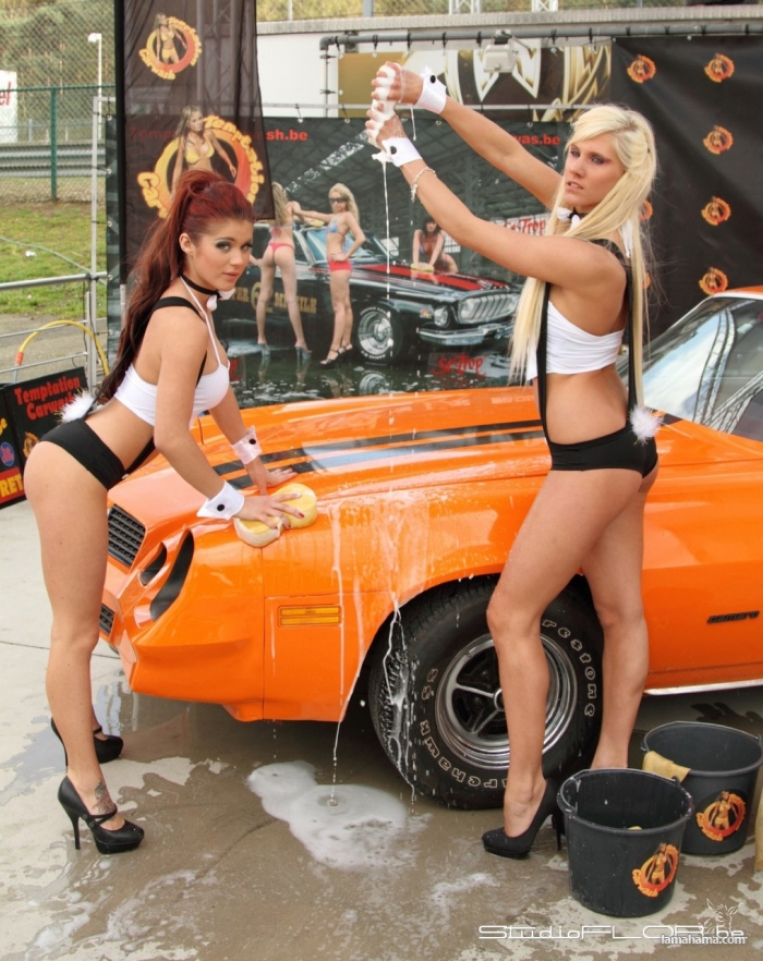 Sexy girls washing cars - Pictures nr 75