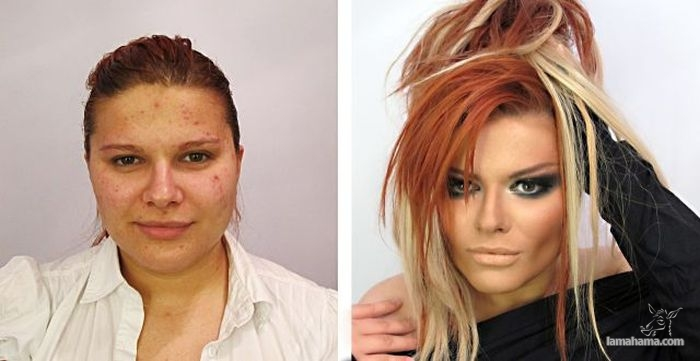 Before and after makeup - Pictures nr 1
